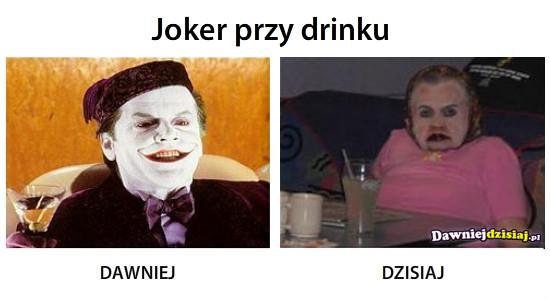 Joker przy drinku –
