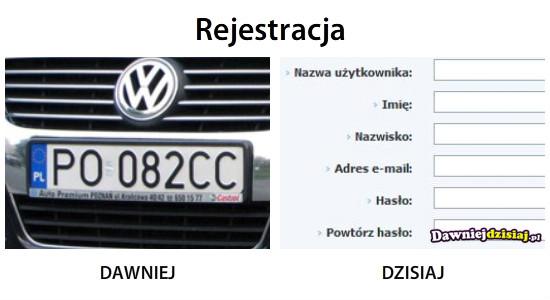 Rejestracja –