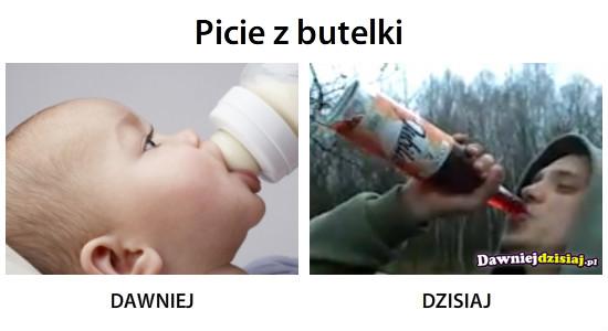 Picie z butelki –