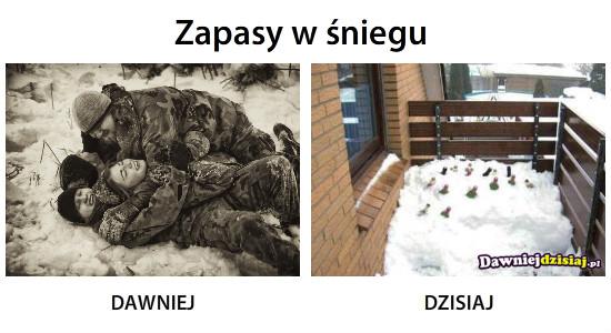 Zapasy w śniegu –