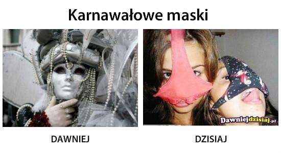 Karnawałowe maski –