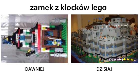 Zamek z klocków lego –