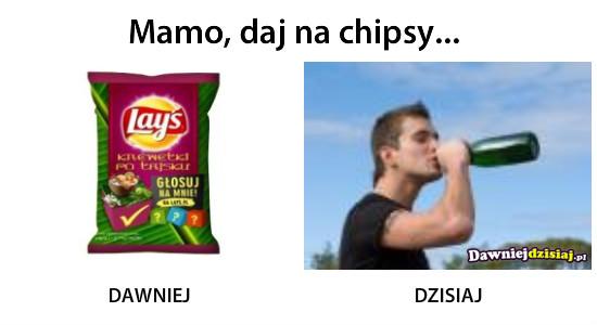 Mamo, daj na chipsy... –