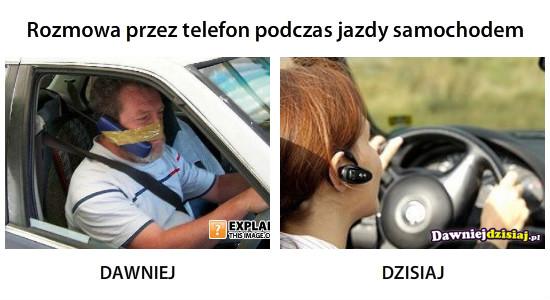 Rozmowa przez telefon podczas jazdy samochodem –