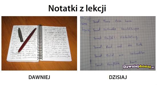 Notatki z lekcji –