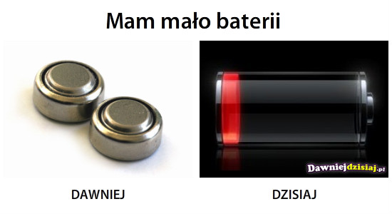 Mam mało baterii –