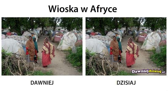 Wioska w Afryce –