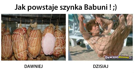 Jak powstaje szynka Babuni ! ;) –
