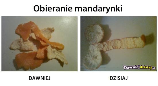 Obieranie mandarynki –
