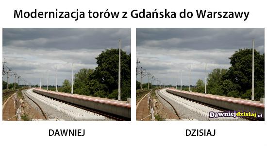 Modernizacja torów z Gdańska do Warszawy –