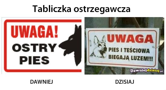Tabliczka ostrzegawcza –