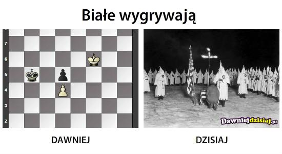 Białe wygrywają –