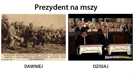 Prezydent na mszy –