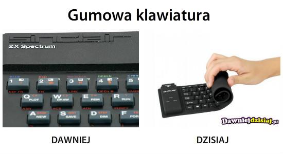 Gumowa klawiatura –